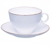 Lomonosov Imperial Porcelain Tea Set Cup and Saucer AppleTea Golden Edge 5.4 fl. oz/160 ml