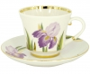 Lomonosov Imperial Porcelain Tea Set Cup and Saucer Banquet Iris 7.4 oz/220 ml