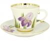 Lomonosov Imperial Porcelain Tea Set Cup and Saucer Banquet Iris 7.4 oz/220 ml