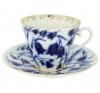 Imperial Lomonosov Porcelain Tea Set Cup and Saucer Blue Bells