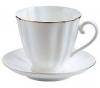 Lomonosov Imperial Porcelain Tea Set Cup and Saucer Carnation Golden Edge 6.8 oz/200 ml