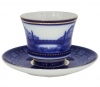 Lomonosov Imperial Porcelain Tea Set Cup and Saucer Egyptian Bridge 7.4 oz/220 ml