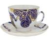 Lomonosov Imperial Porcelain Tea Set Cup and Saucer Golden Fig Tree 11.8 oz/350 ml