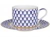 Lomonosov Imperial Porcelain Tea Set Cup and Saucer Solo Cobalt Net 10.1oz/300 ml