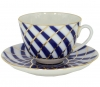 Lomonosov Imperial Porcelain Tea Set Cup and Saucer Spring Todes 7.8 oz/230 ml