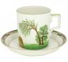 Lomonosov Imperial Porcelain Tea Set Cup and Saucer Summer 7.4 oz/220 ml