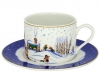 Lomonosov Imperial Porcelain Tea Set Cup and Saucer Winter Story