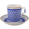 Lomonosov Imperial Porcelain Tea Set Cup and Saucer for Yacht White Sea Wave v.1