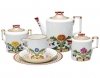 Lomonosov Imperial Porcelain Tea Set Moscow River 6/20