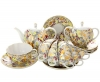 Lomonosov Imperial Porcelain Tea Set Tulip Golden Daisy 6/14