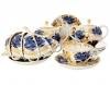 Lomonosov Imperial Porcelain Tea Set Tulip Golden Garden 6/22