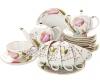 Lomonosov Imperial Porcelain Tea Set Tulip Pink Tulips 6/21