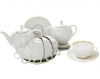 Lomonosov Imperial Porcelain Tea Set Tulip Snow White 6/21