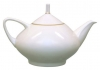 Lomonosov Imperial Porcelain Bone China Tea Pot Dome Golden Ribbon 47.3 fl.oz/1400 ml