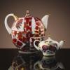 Lomonosov Imperial Porcelain 2 pc Teapot Set Red Horse 82.8 fl.oz + 8.5 fl.oz