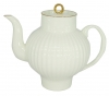 Lomonosov Imperial Porcelain Bone China Tea Pot Wave Golden Edge 27 fl.oz/800 ml