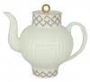 Lomonosov Imperial Porcelain Bone China Tea Pot Wave Pink Net 27 fl.oz/800 ml