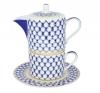 Lomonosov Imperial Porcelain Gift Set Solo Teapot and Tea Cup Cobalt Net