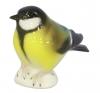 Tomtit Titmouse Black-Headed Bird Lomonosov Imperial Porcelain Figurine