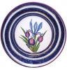 "Decorative Wall Plate Iris Flower 9.4""/240 mm Lomonosov Imperial Porcelain"