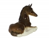 Horse Brown Recumbent Lomonosov Porcelain Figurine