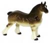 Horse Percheron Draft Chestnut Colored Lomonosov Porcelain Figurine