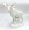 Moose Walking White Lomonosov Porcelain Figurine