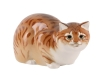 Hunting Cat Red Lomonosov Imperial Porcelain Figurine