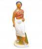 Walking Soviet Girl Lomonosov Imperial Porcelain Figurine
