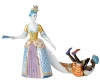 Lady with Arapchonk Lomonosov Imperial Porcelain Figurine