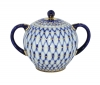 Lomonosov Imperial Porcelain Sugar Bowl Cobalt Net 15 oz/450 ml