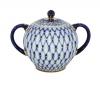 Lomonosov Imperial Porcelain Sugar Bowl Cobalt Net 15 oz/450 ml