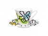 Bone China Tea Set Emilia Green 7.3 fl.oz/200 ml