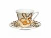Russian Porcelain Bone China Tea Set Emilia Gold 7.3 fl.oz/200 ml