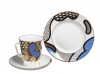 Imperial Porcelain Bone China Cup and Saucer May Azure 5.6 fl.oz/165 ml 3 pc