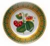 "Decorative Wall Plate Strawberries 10.4""/265 mm Lomonosov Porcelain"