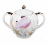 Lomonosov Imperial Porcelain Sugar Bowl Pink Tulips 15 oz/450 ml