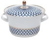 Russian Porcelain Porcelain Soup Bowl Tureen Youth Cobalt Net 113.3 oz/3350 ml