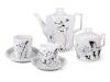 Lomonosov Porcelain Tea Set 6/14 Cat Jazz