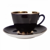 Lomonosov Porcelain Porcelain Tea Set Cup and Saucer Spring Night 7.8 oz/230 ml