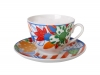 Lomonosov Porcelain Tea Set Cup and Saucer Spring Flowers 7.8 oz/230 ml