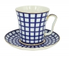Lomonosov Porcelain Mug and Saucer Leningradskii Cobalt Cell 12.2 fl.oz/360 ml