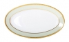 "Russian Porcelain Porcelain Oval Platter Jade Background 9.2""/240 mm"