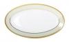 """Russian Porcelain Porcelain Oval Platter Jade Background 9.2""""/240 mm"""