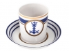 Lomonosov Porcelain Porcelain Tea Cup with Saucer Navy Style #3 7.4 oz/220 ml