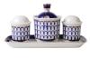 Lomonosov Imperial Porcelain Salt Pepper Spice Set 4 pc Classic of Petersburg