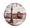 "Porcelain Decorative Wall Plate Palace Square, St. Petersburg 7.7""/195 mm Lomonosov Imperial Porcelain"