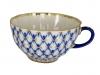 Lomonosov Porcelain Cobalt Net Tea Cup Tulip 8.45 oz/250 ml
