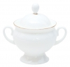 Lomonosov Imperial Porcelaine Bone China Sugar Bowl Classic-2 Golden Edge 5.9 fl.oz/175 ml