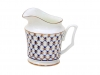 Lomonosov Imperial Porcelain Bone China Creamer Yulia Cobalt Net 4.1 fl.oz/120 ml